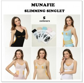 A+ Grade QUALITY - Japan Munafie Slimming Singlet - 5 Colour & 2 Size
