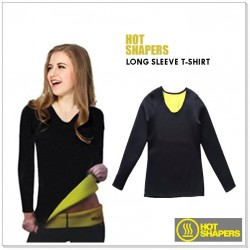 Sweat Plus Slimming Shapers - HOT SHAPER Long Sleeve T-Shirt
